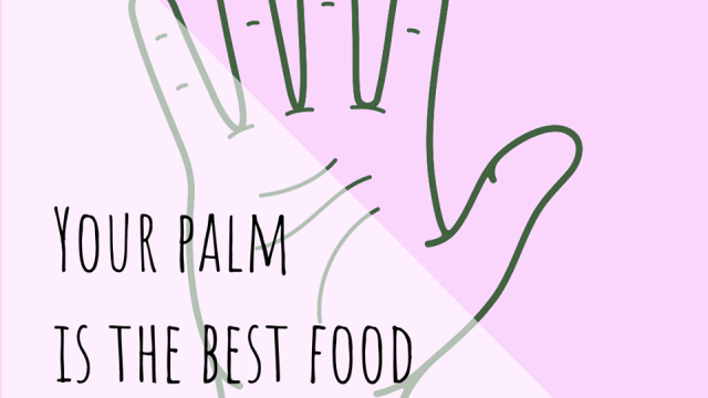 Do you know that your palm is your food portion reference?